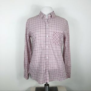 Rails Shirt Button Front Long Sleeves Pocket S/M